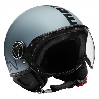 Casque Open Face Momo Design FGTR Classic Grey Mat Black