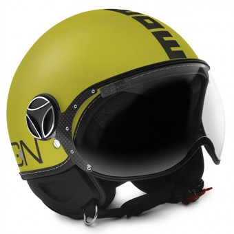 Casque Open Face Momo Design FGTR Classic Yellow Matt