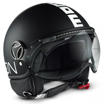 Casque Open Face Momo Design FGTR Classic Matt Black Silver