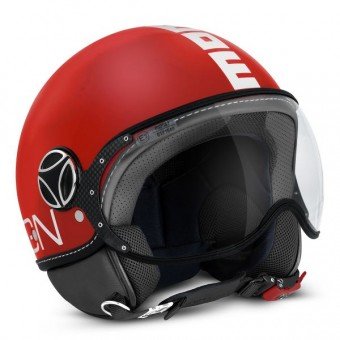 Casque Open Face Momo Design FGTR Classic Red Mat