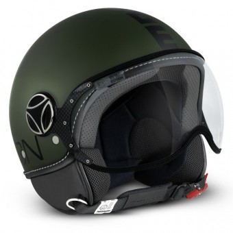 Casque Open Face Momo Design FGTR Classic Military Matt Green