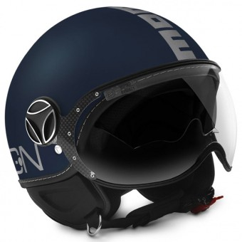 Casque Open Face Momo Design FGTR Evo 3 Blue Matt Grey
