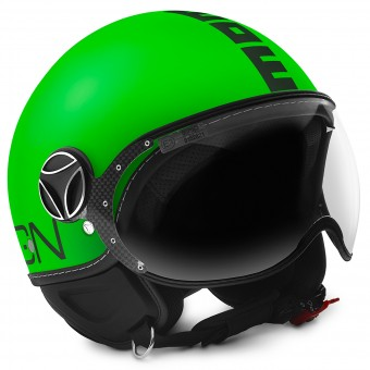 Casque Open Face Momo Design FGTR Fluo Green