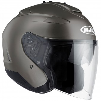 Casque Open Face HJC IS-33 II Semi Flat Titanium