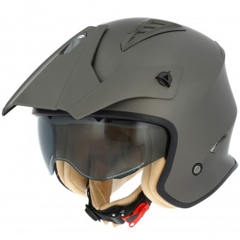 Casque Open Face Astone Minicross Matt Brown