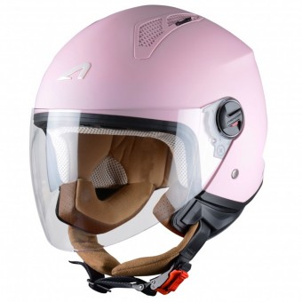 Casque Open Face Astone Minijet Matt Flamingo