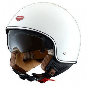 Casque Open Face Astone Minijet S Retro Gloss White