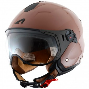 Casque Open Face Astone Minijet Sport Coffee