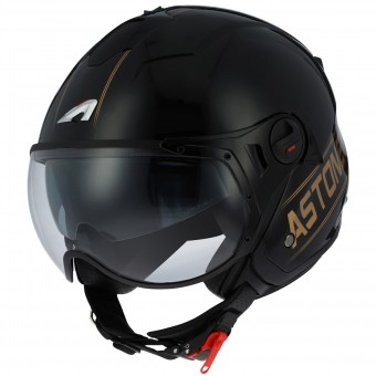 Casque Open Face Astone Minijet Sport Cooper Black Gold