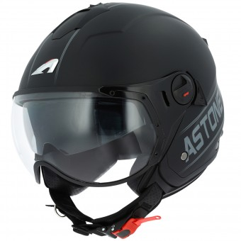 Casque Open Face Astone Minijet Sport Cooper Black Grey