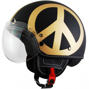 Casque Open Face Moschino Peace And Love Gold Mat