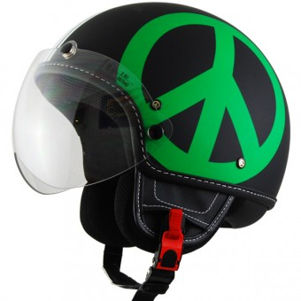 Casque Open Face Moschino Peace And Love Tricolore