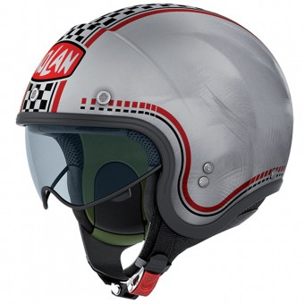 Casque Open Face Nolan N21 Lario Scratched Chrome 4