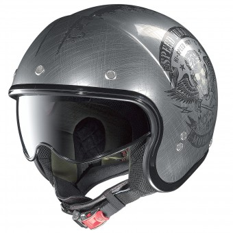 Casque Open Face Nolan N21 Speed Junkies Scratched Chrome 32