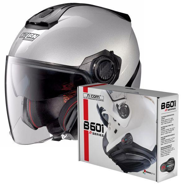 Helmet Nolan N40 5 Special N Com Salt Silver 11 In Stock Icasquecouk