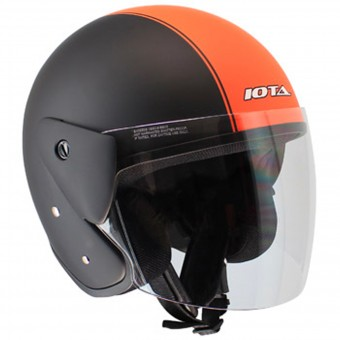 Casque Open Face IOTA OP02 Town Matt Black Orange