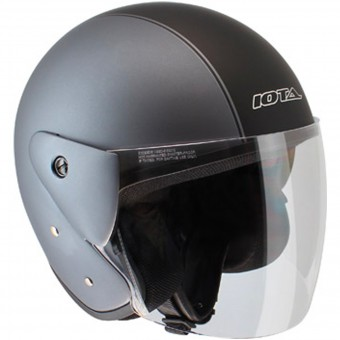 Casque Open Face IOTA OP02 Town Matt Titanium Black