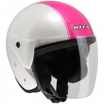 Casque Open Face IOTA OP02 Town White Pink