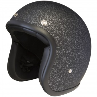 Casque Open Face Stormer Pearl Glitter Matt Black