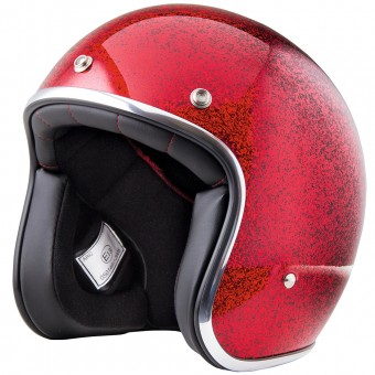 Casque Open Face Stormer Pearl Glitter Red