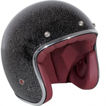 Casque Open Face Stormer Pearl Black Paillete