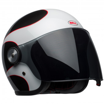 Casque Open Face Bell Riot Boost White Black Red