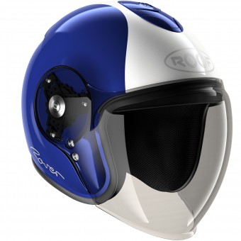 Casque Open Face Roof Rover Legend Blue White