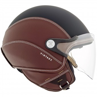 Casque Open Face Nexx SX.60 Vintage 2 Black Brown Mat