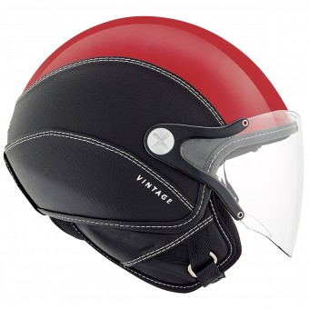 Casque Open Face Nexx SX.60 Vintage 2 Red Black