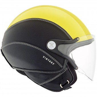 Casque Open Face Nexx SX.60 Vintage 2 Yellow Black