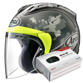 Casque Open Face Arai SZ-R Vas Mimetic Black
