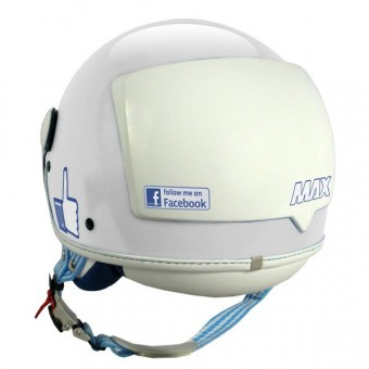 Casque Open Face MAX The Social Network White