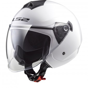 Casque Open Face LS2 Twister Solid White OF573