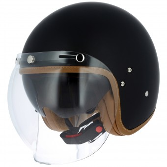 Casque Open Face Astone Vintage Visor Matt Black