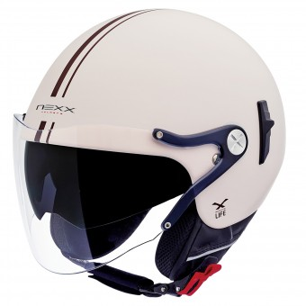 Casque Open Face Nexx X60 Vision Flex Bastille Cream Mat
