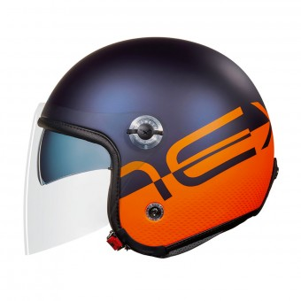 Casque Open Face Nexx X70 City X Blue Orange Matt