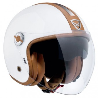 Casque Open Face Nexx X70 Groovy White Brown