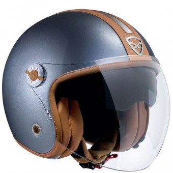Casque Open Face Nexx X70 Groovy Titanium Brown