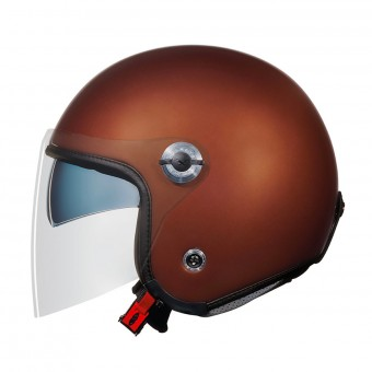 Casque Open Face Nexx X70 Plain Chocolate