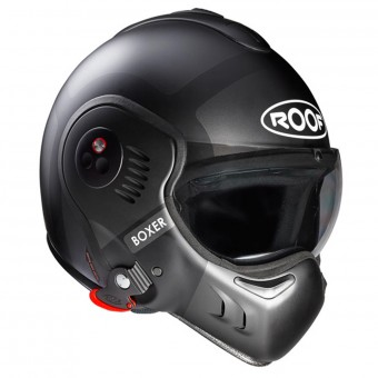 Casque Flip Up Roof Boxer V8 Bond Matt Titan Silver