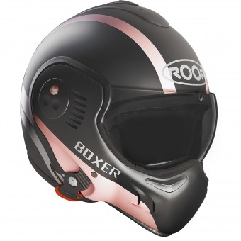 Casque Flip Up Roof Boxer V8 Manga Graphite Mat Pink