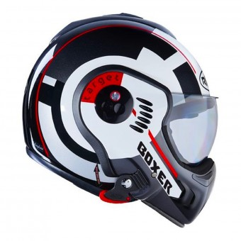 Casque Flip Up Roof Boxer V8 Target Matt White Black Red