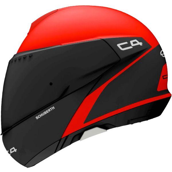 Bluetooth Motorcycle Helmet >> Helmet Schuberth C4 Spark Red in stock | iCasque.co.uk