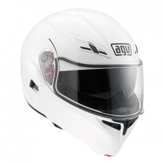 Casque Flip Up AGV Compact ST Vermont White Black Red