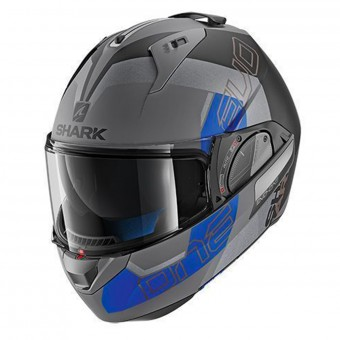 Casque Flip Up Shark Evo-One 2 Slasher Mat AKB