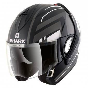 Casque Flip Up Shark Evoline Serie 3 Corvus Mat KWA