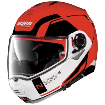 Casque Flip Up Nolan N100 5 Consistency N-Com Corsa Red 23