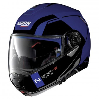 Casque Flip Up Nolan N100 5 Consistency N-Com Flat Caymen Blue 24