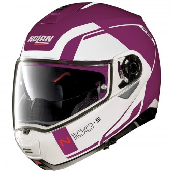 Casque Flip Up Nolan N100 5 Consistency N-Com Fuchsia Kiss 25