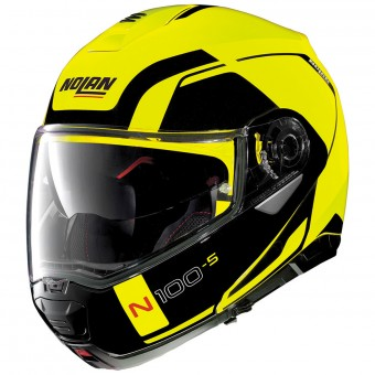 Casque Flip Up Nolan N100 5 Consistency N-Com Led Yellow 26
